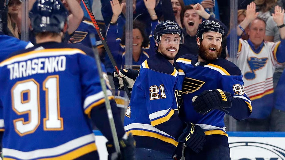Blues Top Sharks To Tie Series As Goalie Binnington Sparkles Again