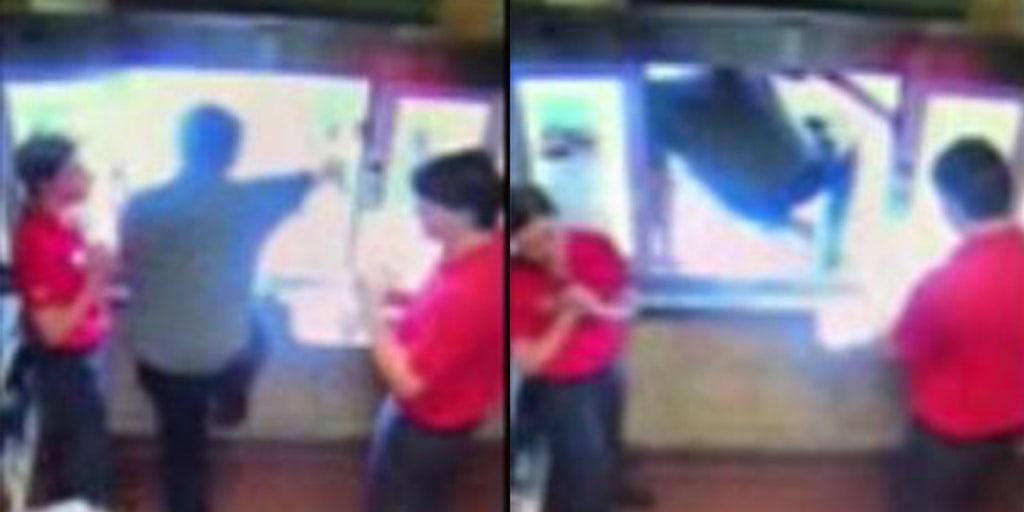 Chick-fil-A worker leaps through drive-thru window to save choking boy