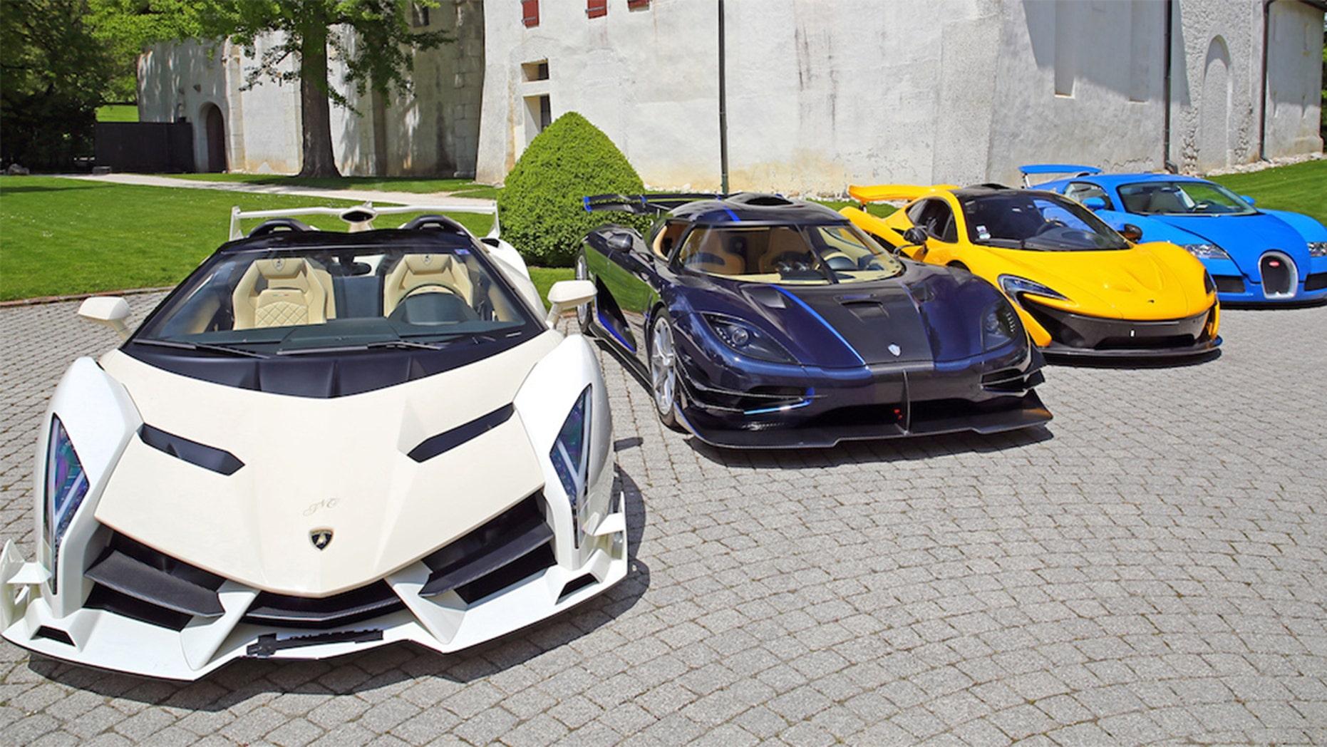 Seized $13 Million Supercar Stash