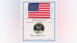 Apollo 11 flag, flight plan page, roll of film used on the Moon up for auction