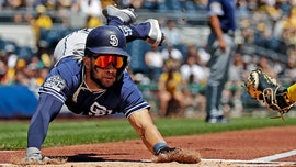 San Diego Padres' Fernando Tatis Jr makes daring play on infield pop up