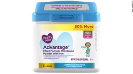 Formula sold at Walmart recalled after complaint about 'metal' in product