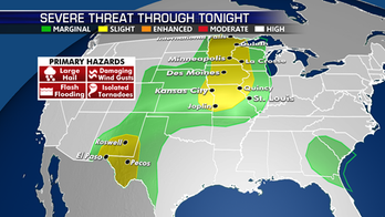 Another day of strong to severe storms from the Plains to Midwest