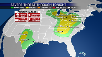 Hail, damaging winds, flash flooding and tornadoes possible from Southeast to Ohio River Valley