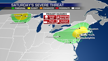 Severe storm threat moves east; summertime heat continues