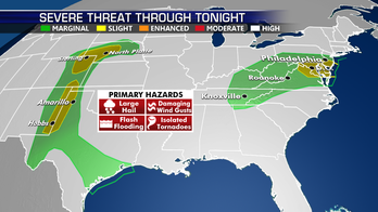 Strong storms possible across Mid-Atlantic, High Plains