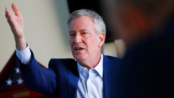 De Blasio mocked after video malfunction at labor forum: Voice 'higher than his poll numbers'