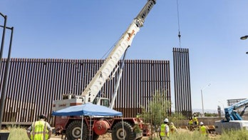 Construction of border wall panels underway in California