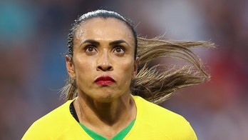 Brazilian soccer legend Marta gives impassioned speech to young players