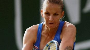 No. 3-ranked Karolina Pliskova upset in historic tennis match against identical twin sister