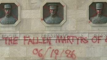 Kansas City World War I Memorial vandalized with spray paint