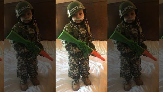 Dozens of uniformed service members attend funeral of 5-year-old who wanted to be 'Army Man'