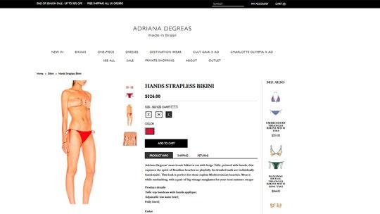 Designer creates unique 'Hands' bikinis, describes look as 'perfect' for topless beaches