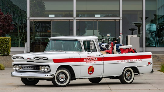 Honda restored a classic Chevrolet pickup to celebrate its 60th Anniversary in the USA