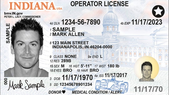 Indiana's new driver's licenses are racy