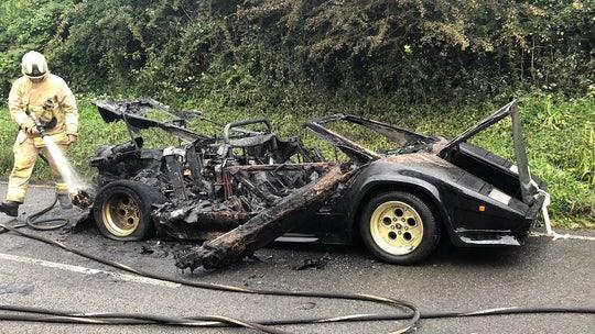 Bankrupt billionaire's 'Lamborghini' destroyed in fire