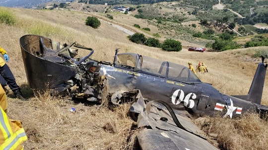California vintage military plane crash leaves pilot dead, officials say