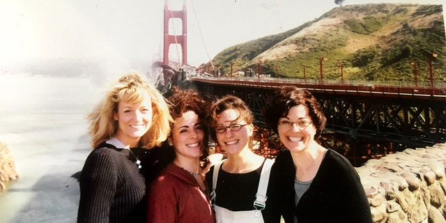 Barbara Bouchey, Michelle Myers, Lauren Salzman and Nancy Salzman in San Francisco, circa 2002. — Courtesy of Barbara Bouchey