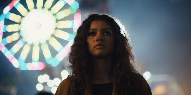 Zendaya as her character Rue in the HBO series.