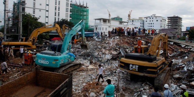 A building has collapsed in Cambodia, leaving at least 19 construction workers dead and another 24 injured