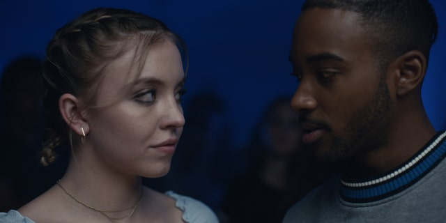 Sydney Sweeney, left, as Cassie and Algee Smith, right, as Chris.