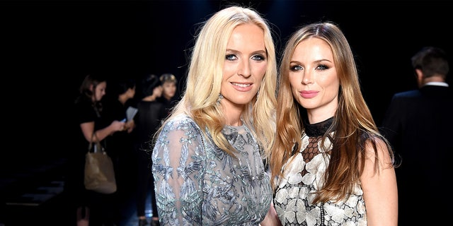 Designers Keren Craig and Georgina Chapman on the runway at the Marchesa fashion show during New York Fashion Week, September 2016. (Photo by Theo Wargo/Getty Images for New York Fashion Week: The Shows)