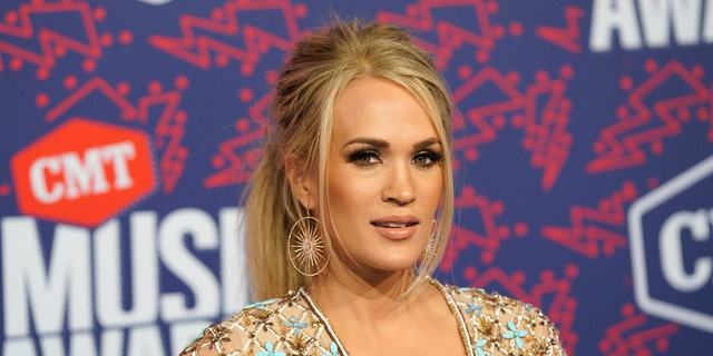 Carrie Underwood arrives at the CMT Music Awards on Wednesday, June 5, 2019, at the Bridgestone Arena in Nashville, Tenn.