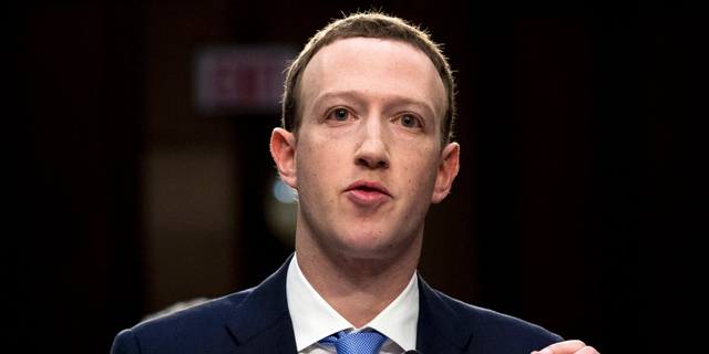 Facebook CEO Mark Zuckerberg testifies before a joint hearing of the Commerce and Judiciary Committees on Capitol Hill on April 10, 2018. (AP Photo/Andrew Harnik)