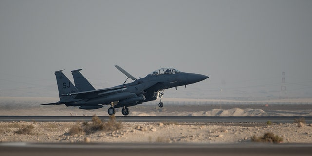 Westlake Legal Group ADAB-2 US squadron of F-15E fighters arrive in UAE amid Iran tensions Lukas Mikelionis fox-news/world/conflicts/iran fox-news/world/conflicts fox-news/us/military fox-news/politics/foreign-policy/middle-east fox-news/politics/defense fox news fnc/world fnc article 84af6ae3-7ddf-598f-bedd-679d4a1c1e3d