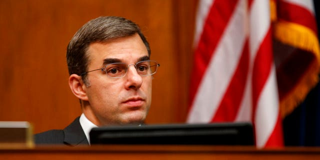 House Oversight and Reform National Security subcommittee member Rep. Justin Amash, R-Mich., looks out from the dais on Capitol Hill in Washington, Wednesday, May 22, 2019