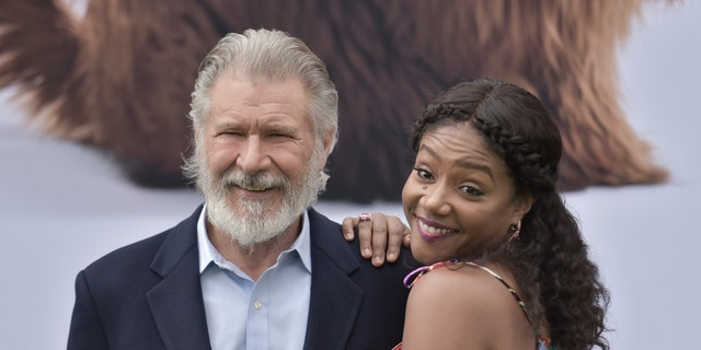 "Harrison Ford, left, and Tiffany Haddish attend the LA Premiere of ""The Secret Life of Pets 2"" at the Regency Village Theatre on Sunday, June 2, 2019, in Los Angeles. (Photo by Richard Shotwell/Invision/AP)"