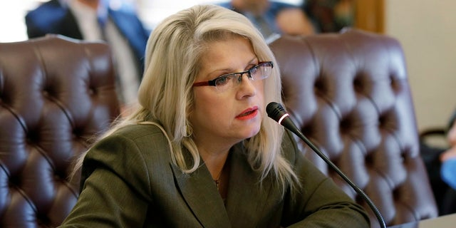 In this Jan. 28, 2015 file photo, Sen. Linda Collins-Smith, R-Pocahontas, speaks at the Arkansas state Capitol in Little Rock, Ark.  (AP Photo/Danny Johnston, File)