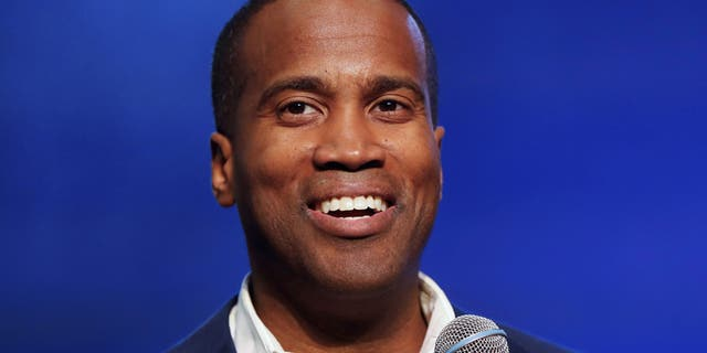 In this Oct. 17, 2018 file photo, Republican U.S. Senate candidate John James speaks during a rally in Pontiac, Mich. The combat veteran and businessman of Michigan is running for U.S. Senate again, this time against first-term Democratic Sen. Gary Peters in 2020. James, who ran against Democrat Debbie Stabenow in 2018, announced his candidacy on Thursday, June 6, 2019. (AP Photo/Paul Sancya)  'Nervous' Schumer spending big in Michigan Senate race to help Gary Peters: memo | Daily's Flash AP19156830401138 e1559833476972  'Nervous' Schumer spending big in Michigan Senate race to help Gary Peters: memo | Daily's Flash AP19156830401138 e1559833476972