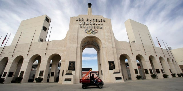 This Jan. 13, 2016 file photo shows the peristyle of the Los Angeles Memorial Coliseum in Los Angeles. United Airlines and the University of Southern California have reached a new naming rights agreement for Los Angeles Memorial Coliseum to resolve criticism that putting a corporate name on the stadium disrespects its role as a World War I monument. (AP Photo/Nick Ut, File)