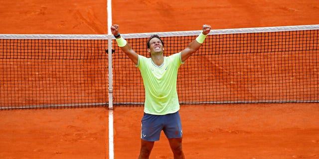Rafael Nadalwon 6-3, 5-7, 6-1, 6-1 at the French Open on Sunday.