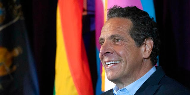 FILE: New York Gov. Andrew Cuomo speaks at the Lesbian, Gay, Bisexual & Transgender Community Center.
