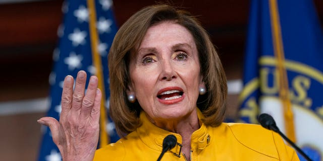 Nancy Pelosis's speaker, D-Calif., Reflects on President Donald Trump's statement that he would accept help from a foreign power.