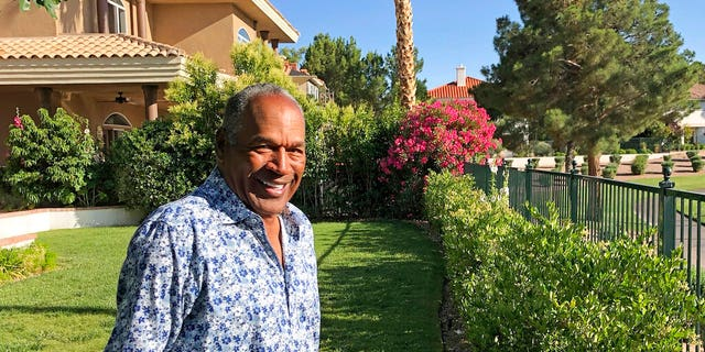 FILE: O.J. Simpson in the garden of his home in the Las Vegas area.