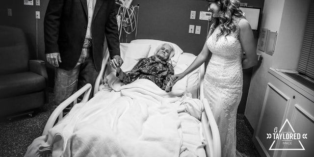 """That day, she was up and listening and surprised. Smiling the whole time,"" the groom said of his grandmother."