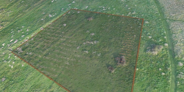 Drone photogrammetry data showing the area of the former forced and slave laborers' cemetery on Longy Common.