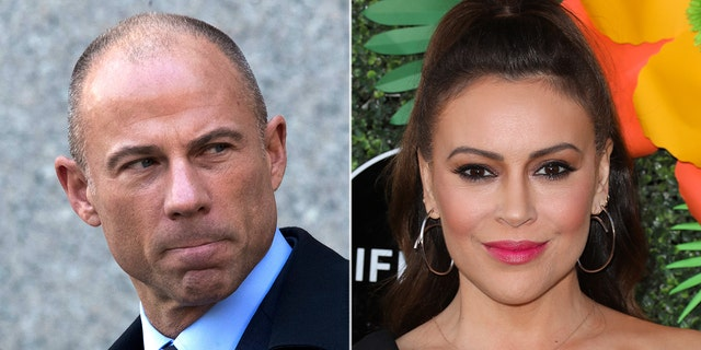 Michael Avenatti blasted actress Alyssa Milano on Twitter Monday afternoon in response to a tweet she issued about his arrest for domestic violence last year