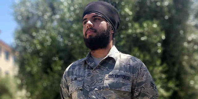 Airman 1st Class Harpreetinder Singh Bajwa was granted an historic religious accommodation by the Air Force allowing him to wear a turban, beard, and unshorn hair in keeping with his Sikh faith.