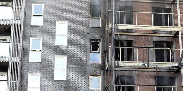 The fire in London destroyed some 20 apartments.