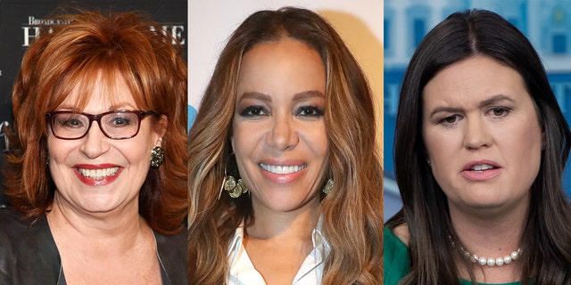 """""""The View"""" co-hosts Joy Behar and Sunny Hostin aren't fans of out-going Press Secretary Sarah Sanders."""