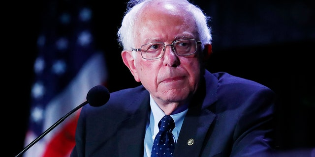 Democratic presidential claimant Sen. Bernie Sanders, I-Vt., pauses while vocalization during a forum on Friday, Jun 21, 2019, in Miami. (AP Photo/Brynn Anderson)