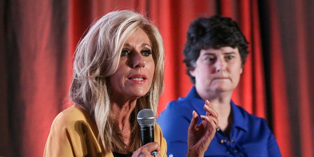 Bible teacher and sexual abuse survivor Beth Moore (left) created a stir when she saidshe would be preaching a Mother's Day service at a particular church.