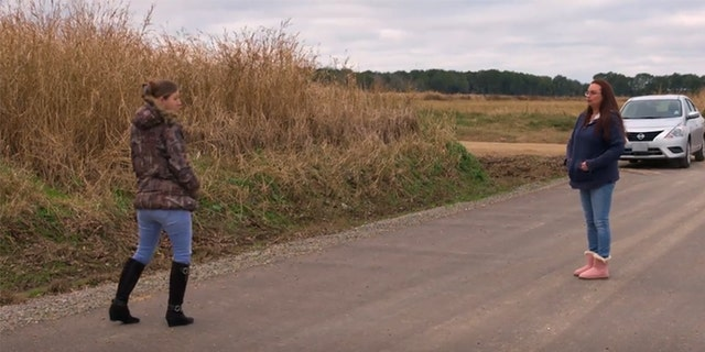 Brittany and Taylor visit the area where Whitnei Dubois' body was found. — ID
