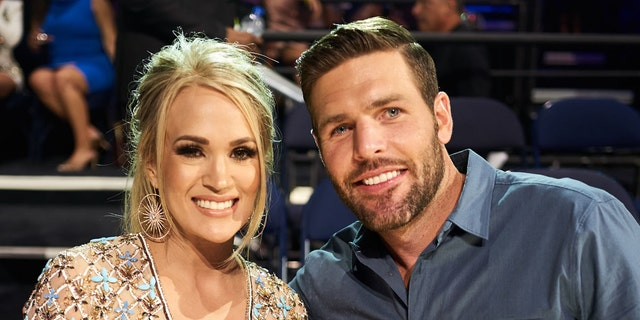 Carrie Underwood, Mike Fisher attend the 2019 CMT Music Awards at Bridgestone Arena on June 05, 2019 in Nashville, Tenn.聽