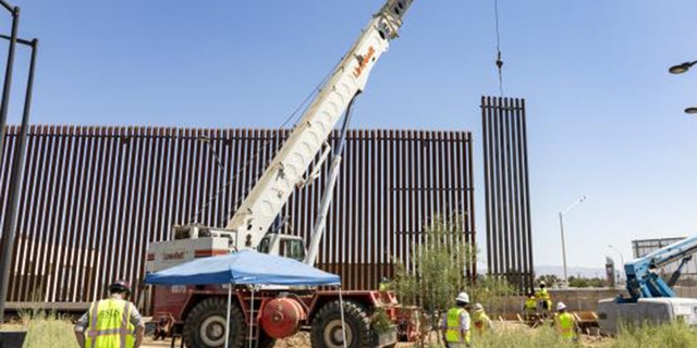 Westlake Legal Group Calexico-Border-Wall-1-CBP Construction of border wall panels underway in California fox-news/us/us-regions/west/california fox-news/us/immigration/mexico fox-news/topic/border-wall fox news fnc/us fnc dcc5c7a1-1345-5cb6-bfcc-dd28828285d1 David Aaro article