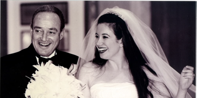 The author with her father Bernie Schneiderman at her wedding in October 1999.